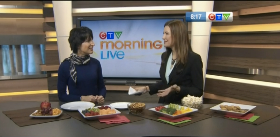 Gina CTV Morning Live holiday eating interview image