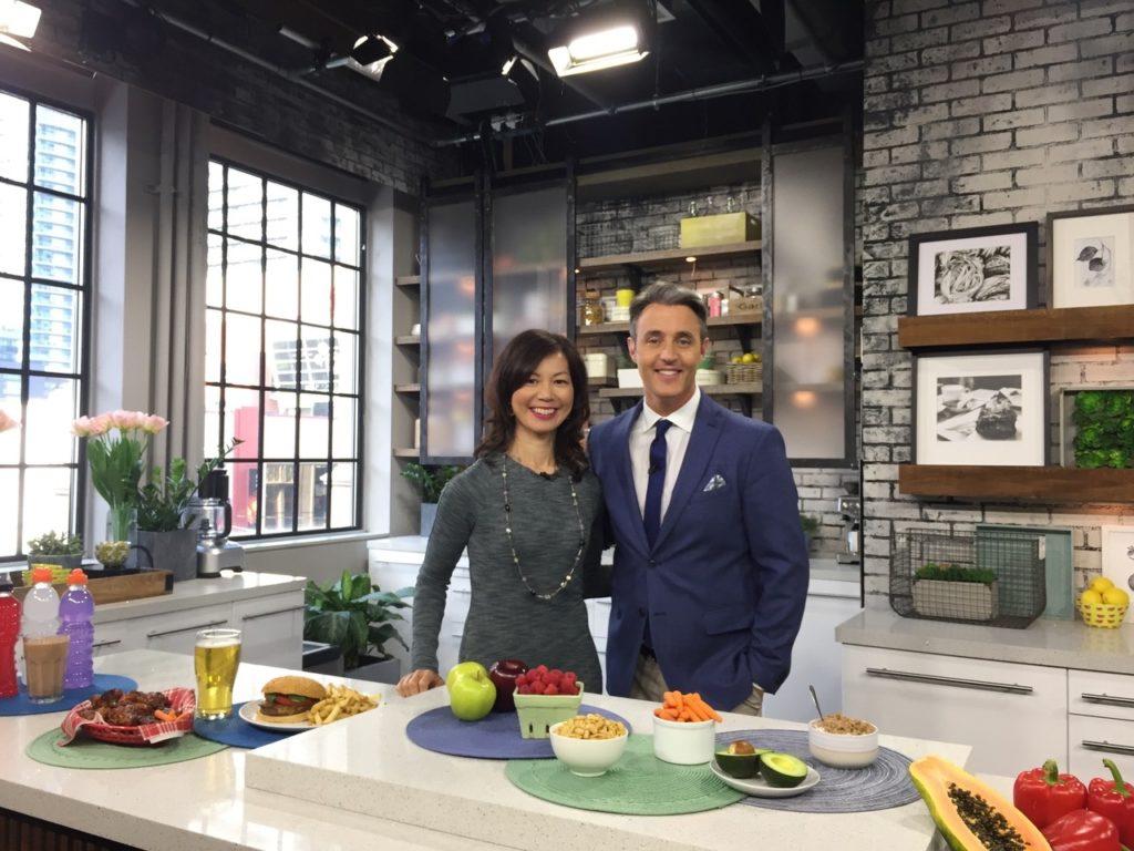 Sue Mah with TV host Ben Mulroney